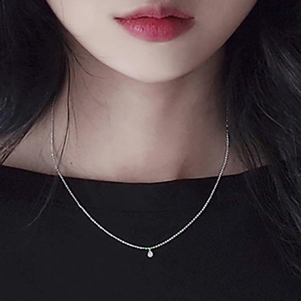 [silver 92.5] Water Drop 목걸이 #224