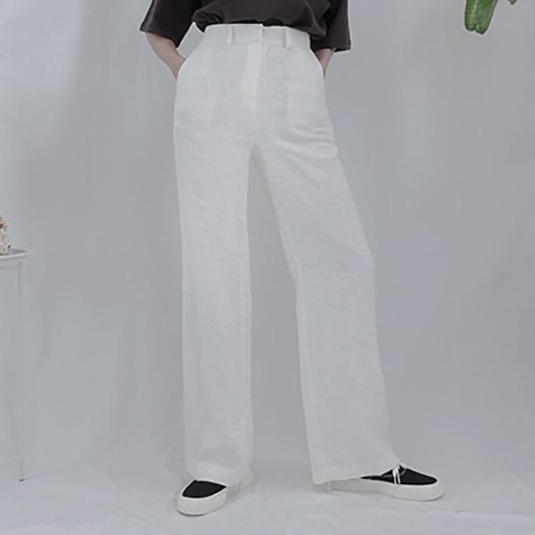 Woman Linen Wide P (White) #531