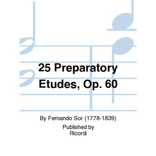 페르난도 소르 - 25 스터디(Studi Preparatori) Op. 60 기타 테크닉