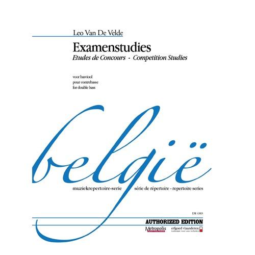 반 데 벨데 - Examenstudies (Etudes de Concours) for Double Bass