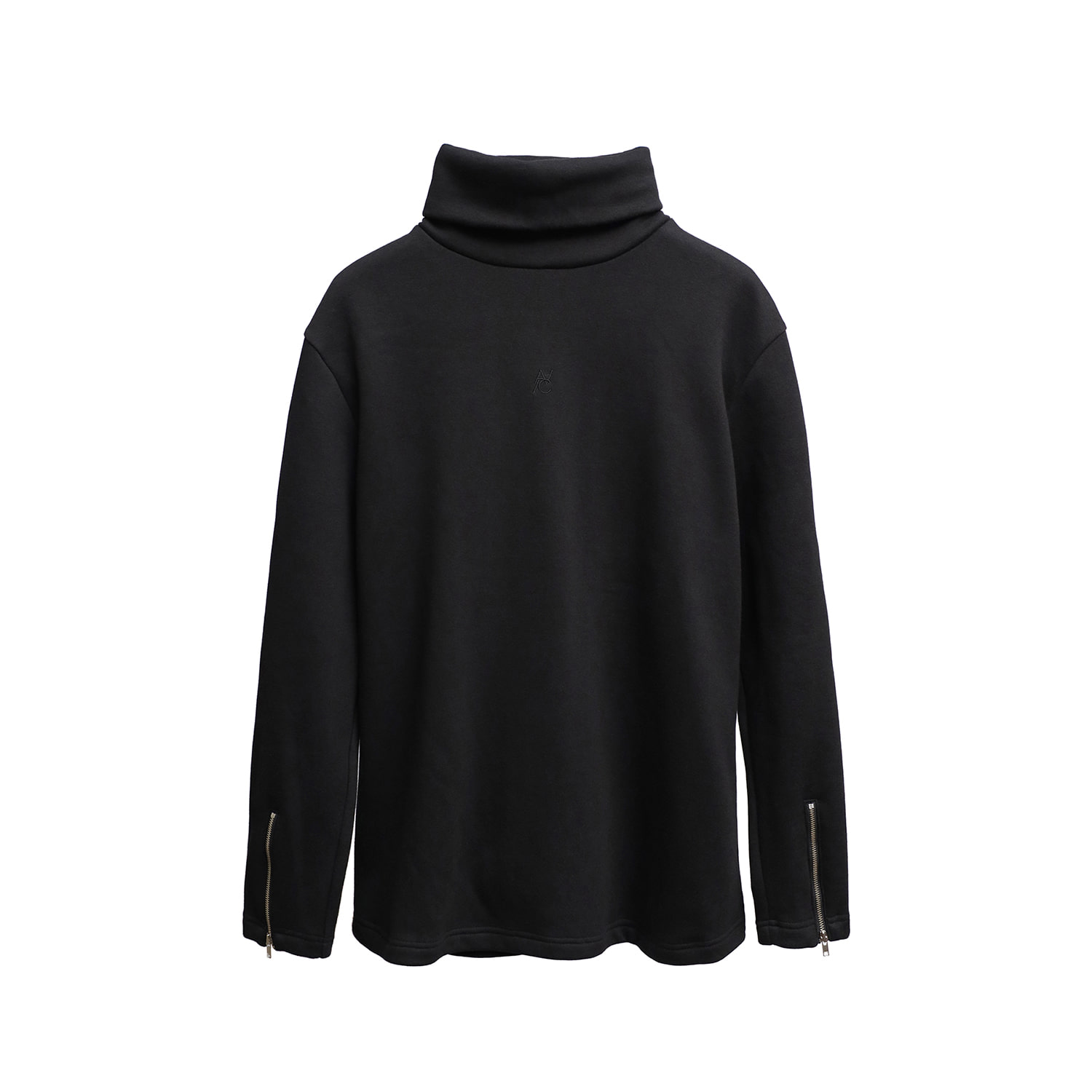 Zippered Turtleneck (black)