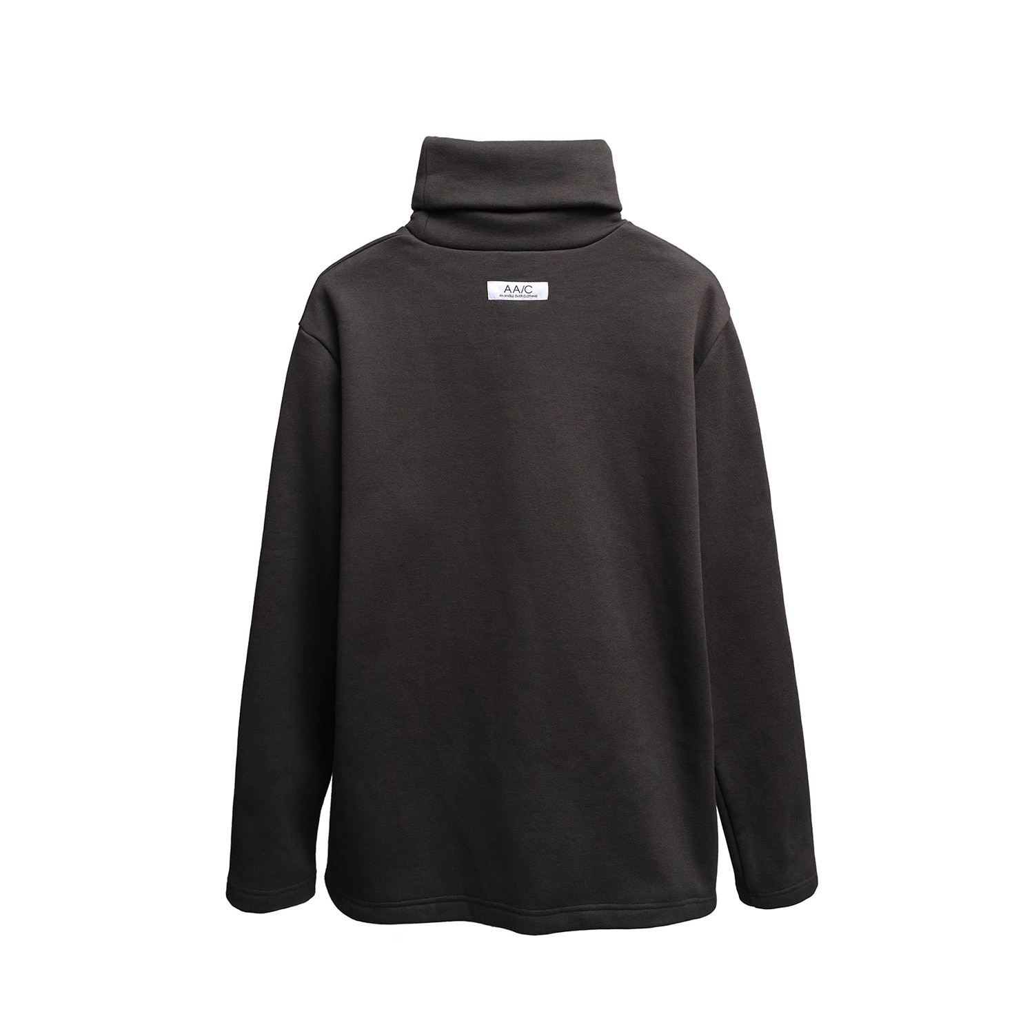Zippered Turtleneck (charcoal)
