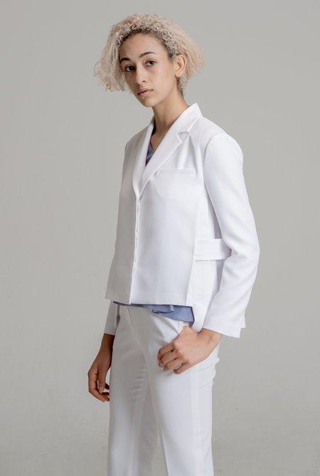 플릿츠 슬릿 랩 여성 재킷