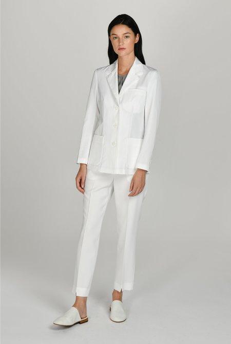 백 사선 슬릿 3버튼 랩 여성 재킷
