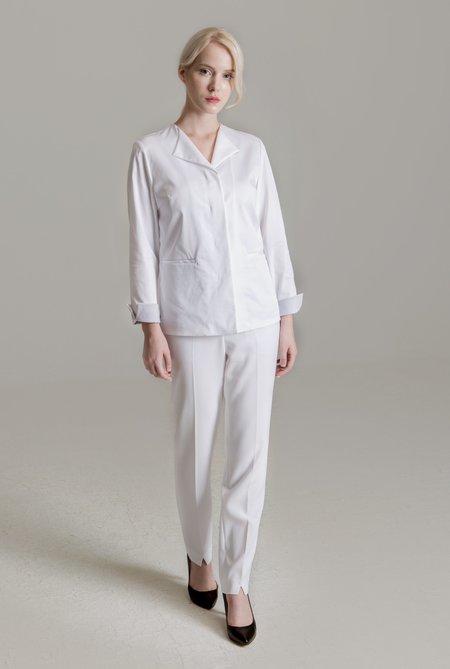 라펠 엣지 커프스 포인트 여성 재킷