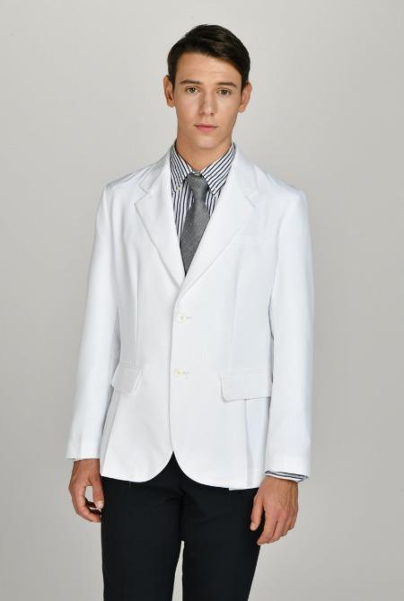2버튼 언더 슬릿 테일러드 랩 남성 재킷