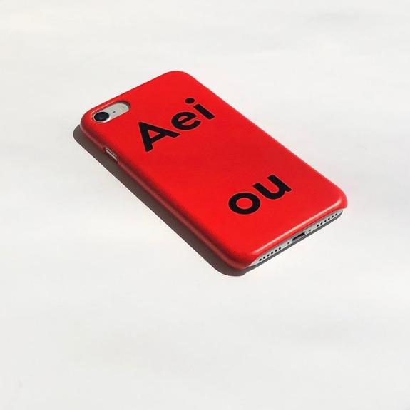 Aeiou Phone case Tomato Red