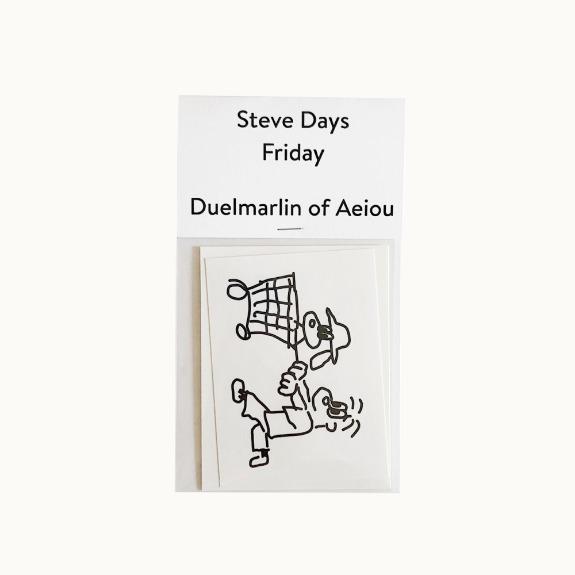 Steve Days Sticker / Friday  5 set
