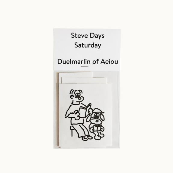 Steve Days Sticker / Saturday  5 set