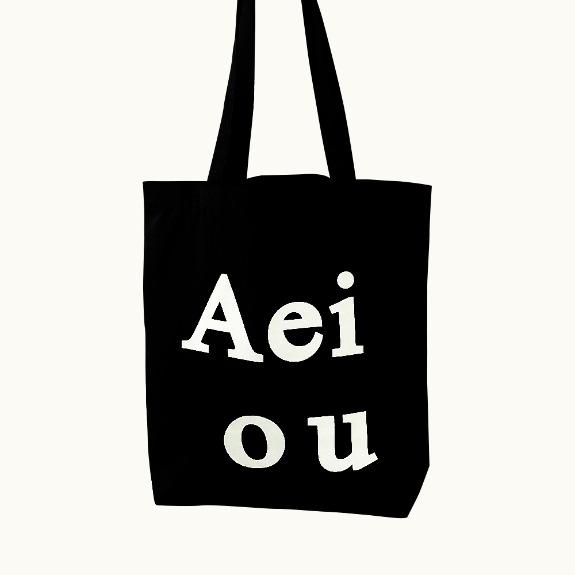 Aeiou Logo Bag (Cotton 100%)Black