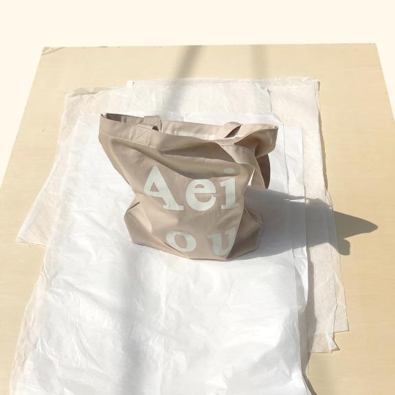 Aeiou Logo Bag (Cotton 100%)Soybean milk