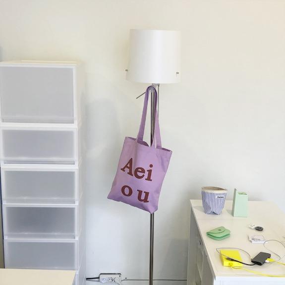 Aeiou Logo Bag (Cotton 100%)Grape Juice