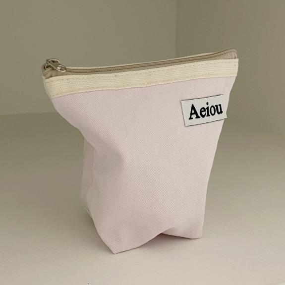 Aeiou Basic Pouch (M size) Pink Hula Berry