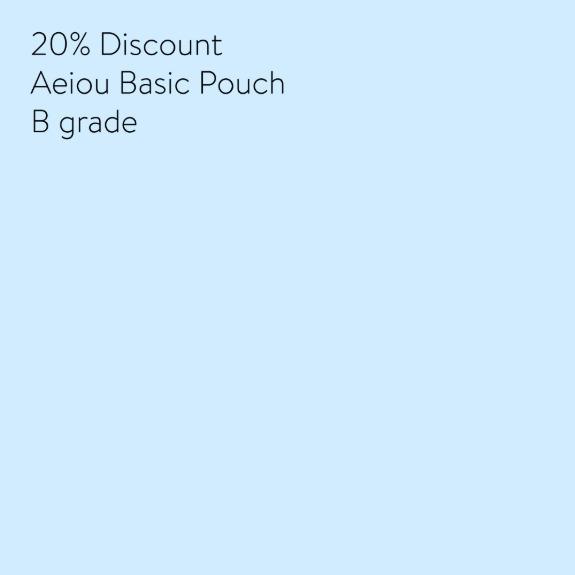 20% Discount Aeiou Pouch B grade