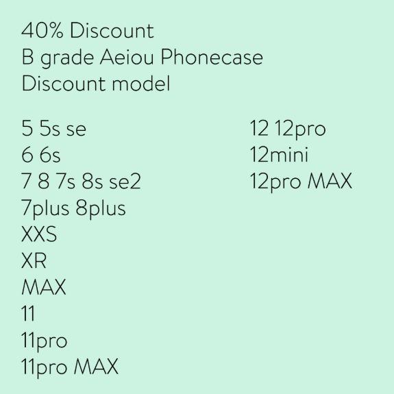 40% Discount Aeiou Phonecase B grade