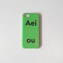 Aeiou Phone case Vegetable Green