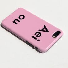 Aeiou Phone case Strawberry milk Pink