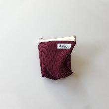 Aeiou Basic Pouch (M size)Burgaundy Corduroy
