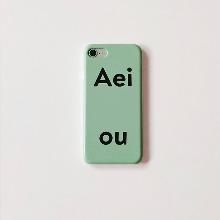 Aeiou Phone case Pale Blue Green