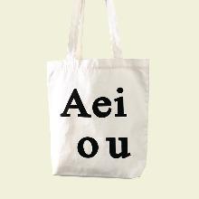 Aeiou Logo Bag (Cotton 100%)White