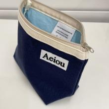 Aeiou Basic Pouch (L size) Indigo Blue