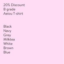 20% Discount Aei ou T-shirtB grade