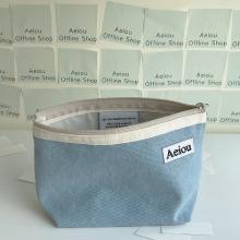 Aeiou Basic Pouch (L size) new vanilla blue