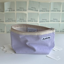 Aeiou Basic Pouch (L size) Very light purple
