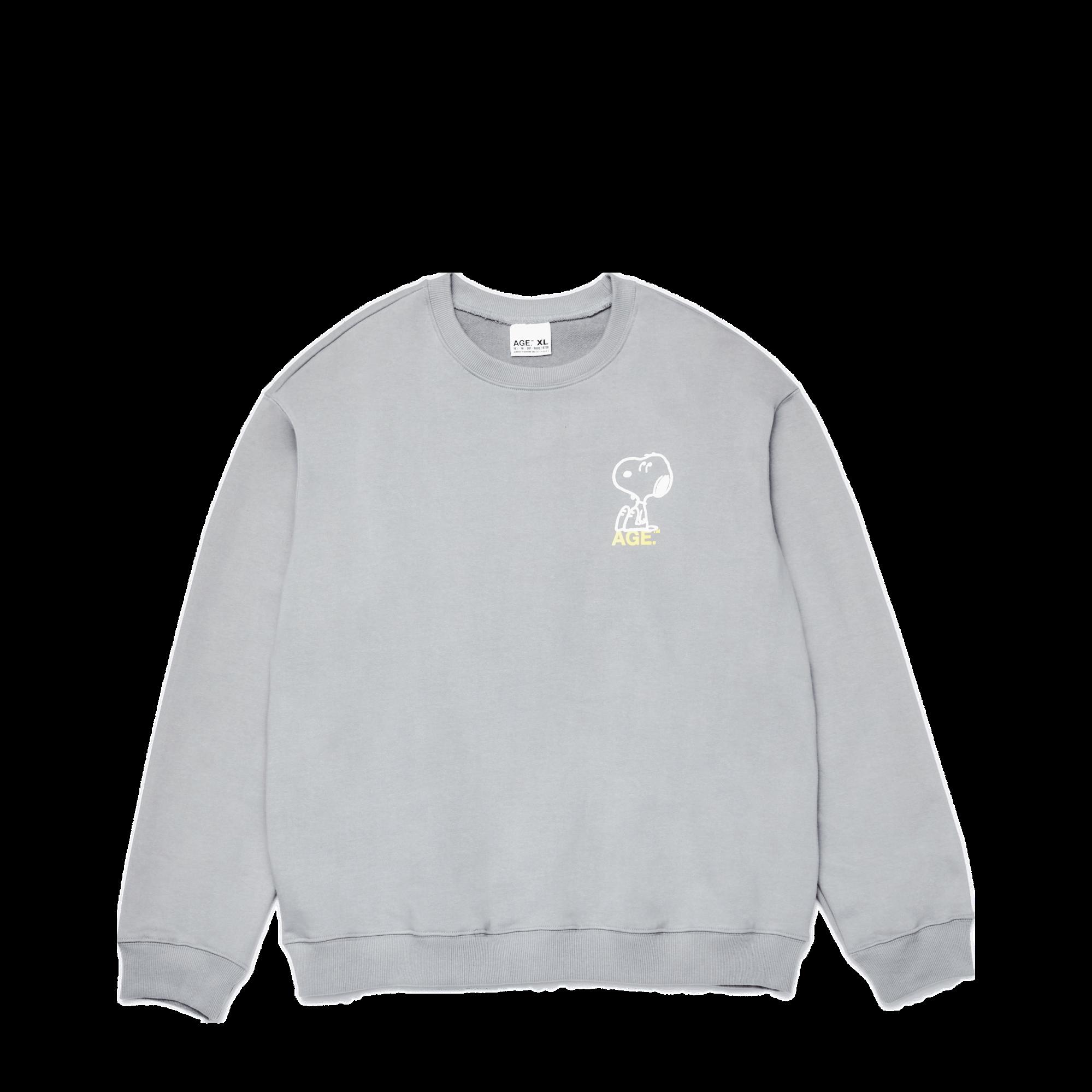 AGE X Snoopy 3 Bros Sweatshirt GR/YL