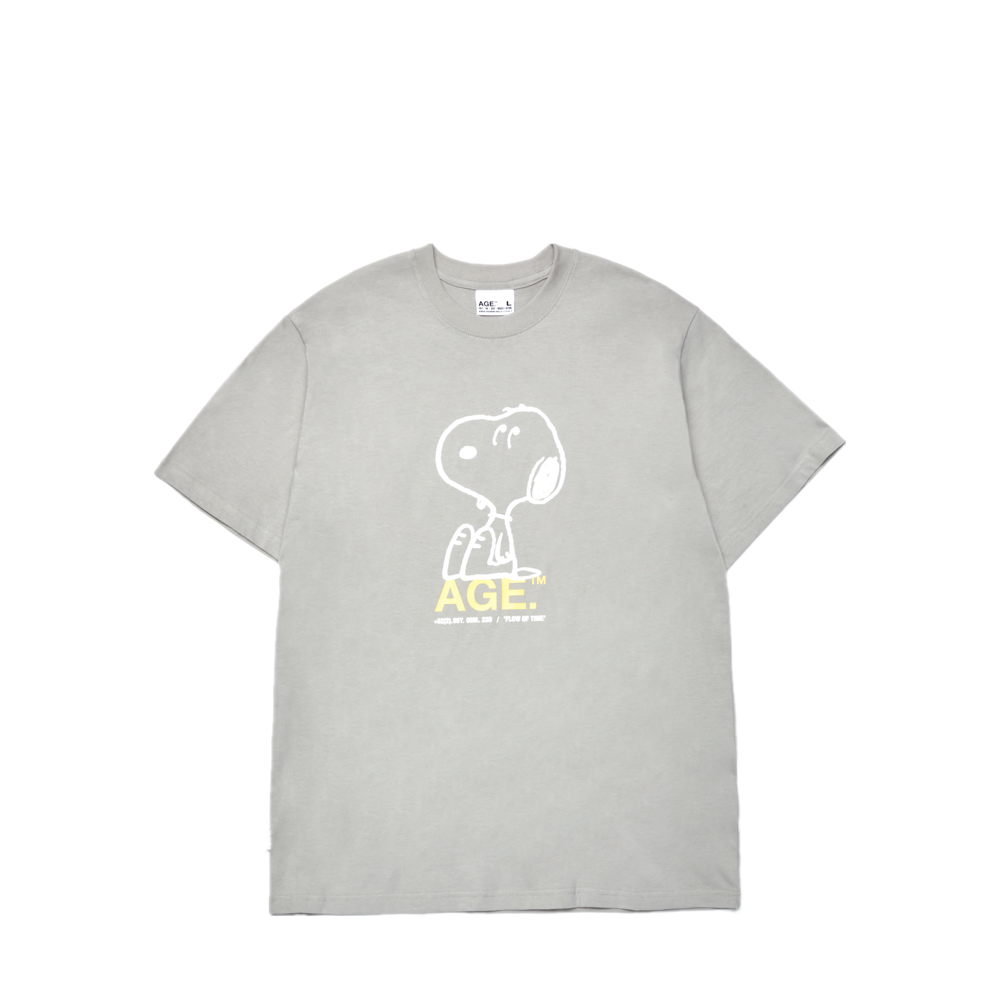 AGE X Snoopy Chilling Tee GR/YL