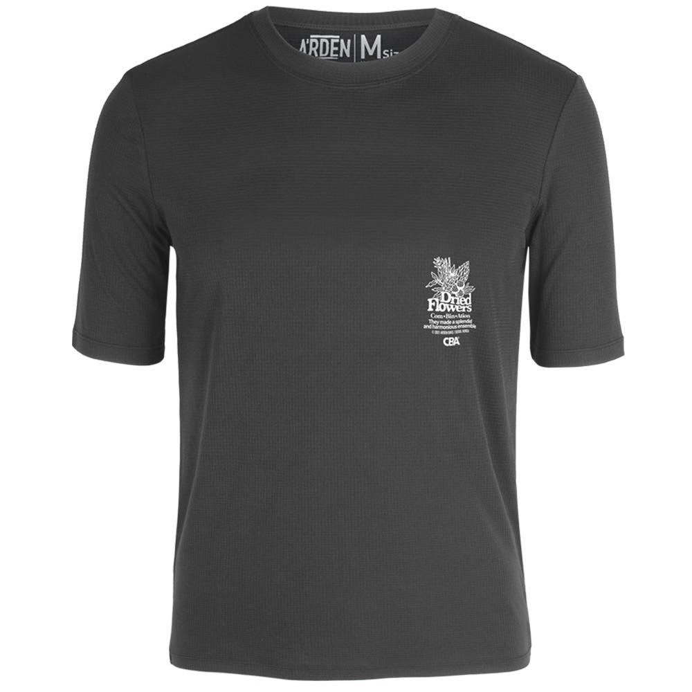 [아덴바이크]  드라이드 플라워 트레일 티셔츠 / 차콜그레이