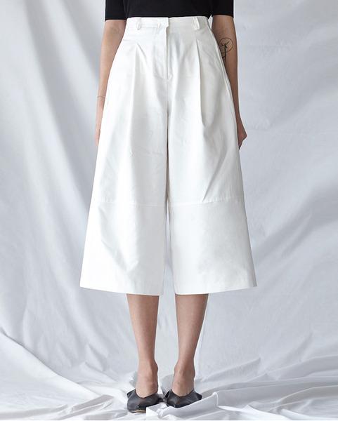 crop wide cotton pants (3 colors)