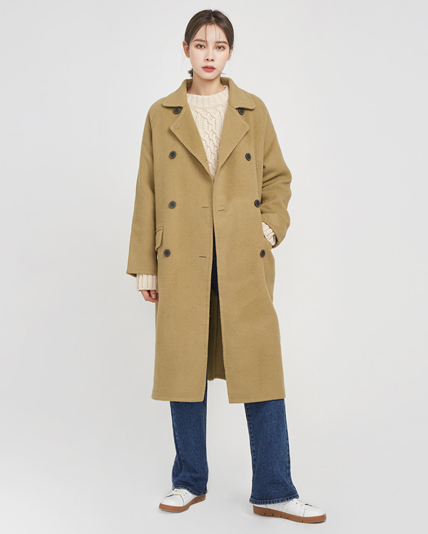closing handmade coat (wool90%)