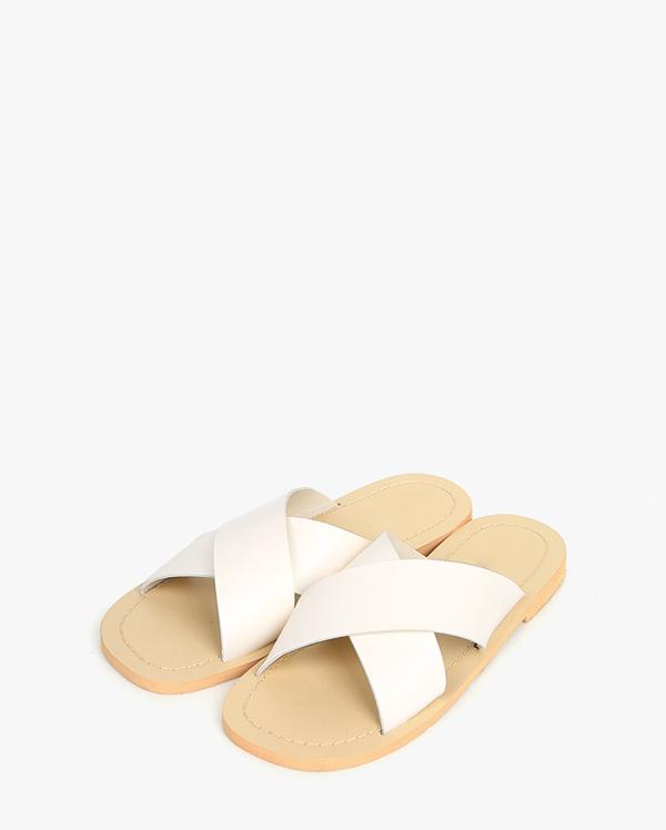 peach simple cross slipper (230-250)