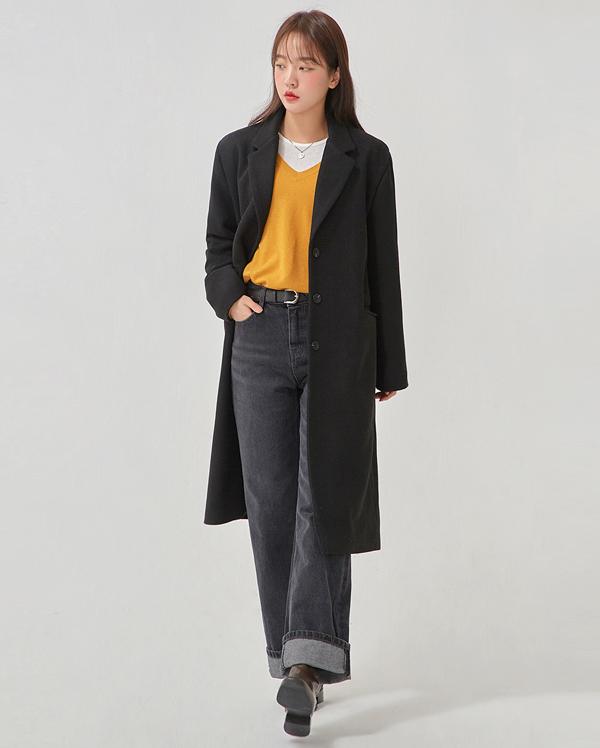 january wool single coat