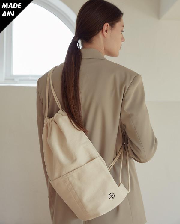FRESH A logo string bag