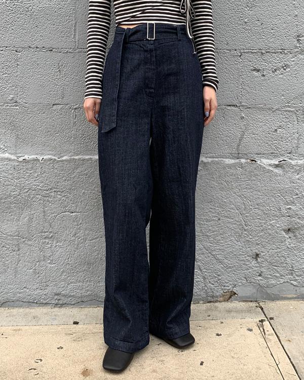 grove long denim pants