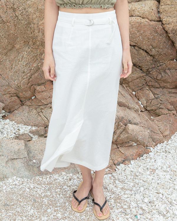 needs belt linen skirt (s, m)