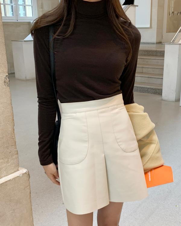 cutting leather mini skirts (s, m)