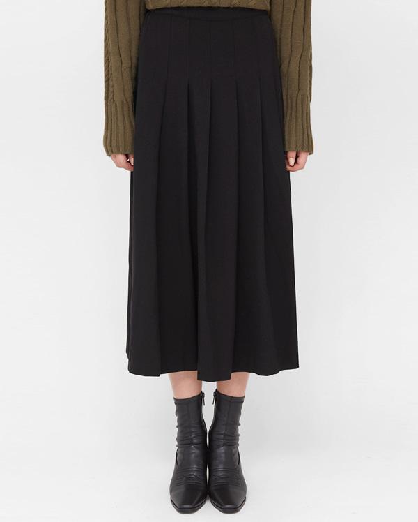 banding pleats flare skirt