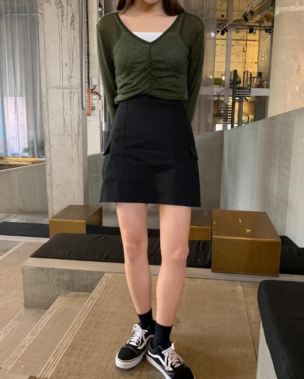 dear cargo mini skirt (s, m)
