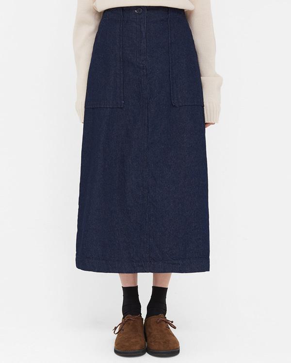 sweet flare banding long skirts