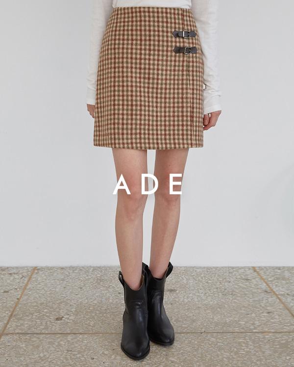 mond check mini skirt (s, m)