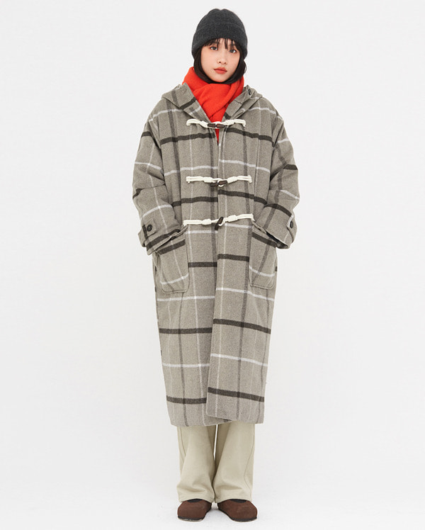 announce wool napping hood coat