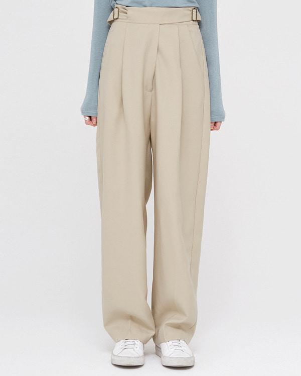 wearable buckle wide slacks (s, m)