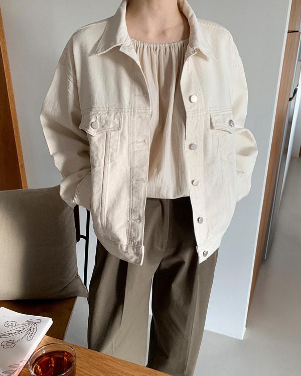 take cream cotton jacket