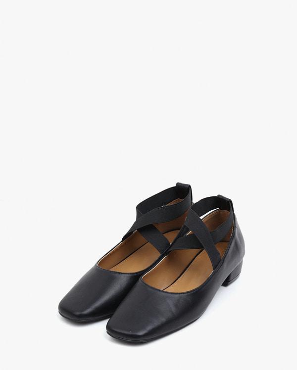 girlish banding flat shose (225-250)