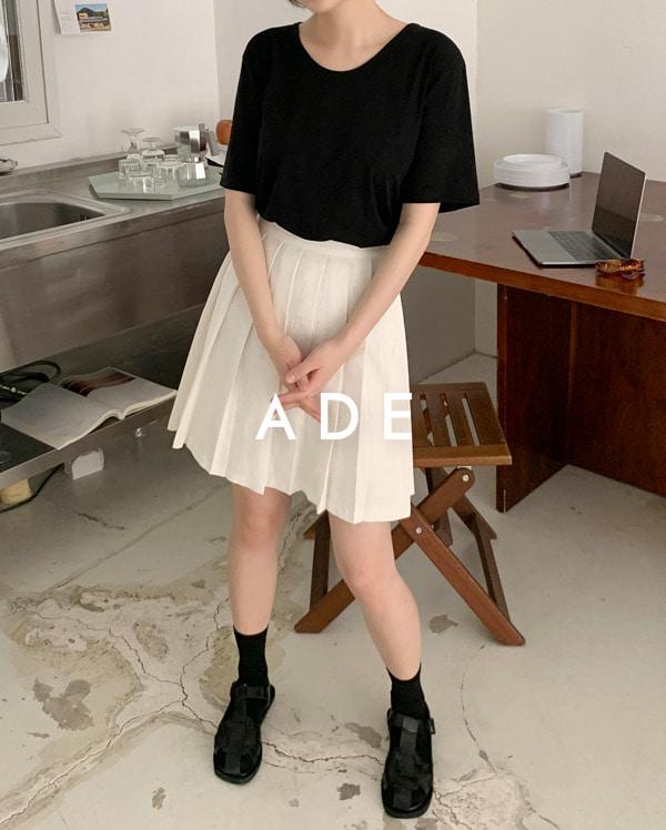 linen pleats skirt (s, m)