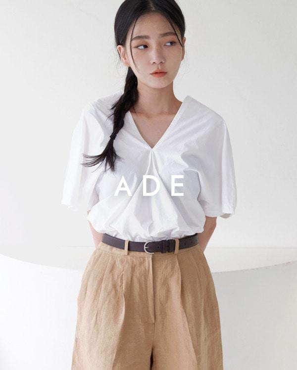 V shirring blouse