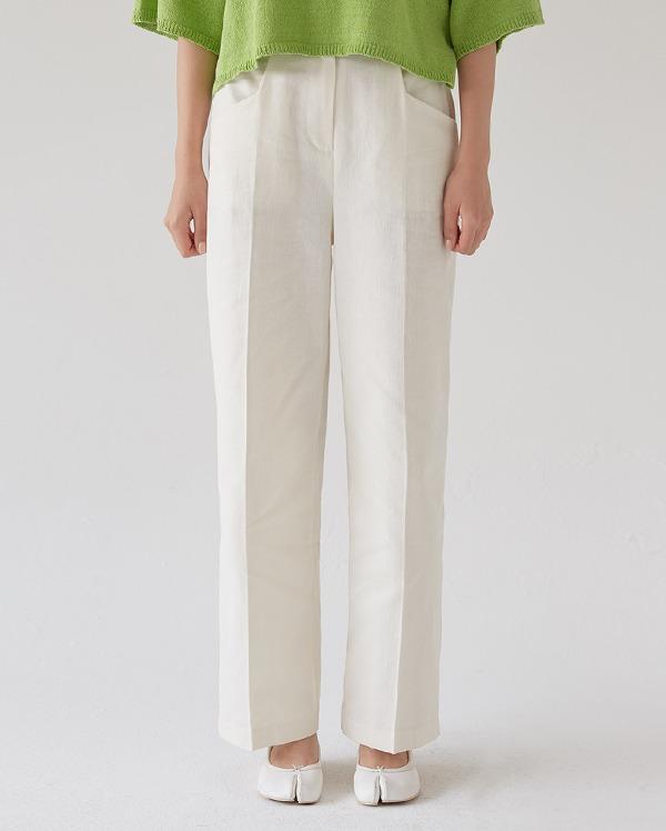 clean light straight pants